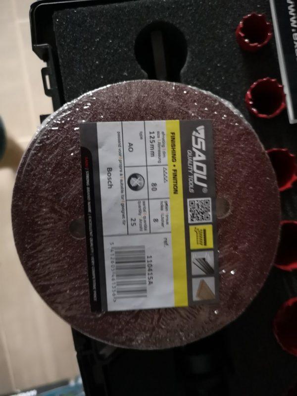 Velcro diskas 125mm 8 sk. P150